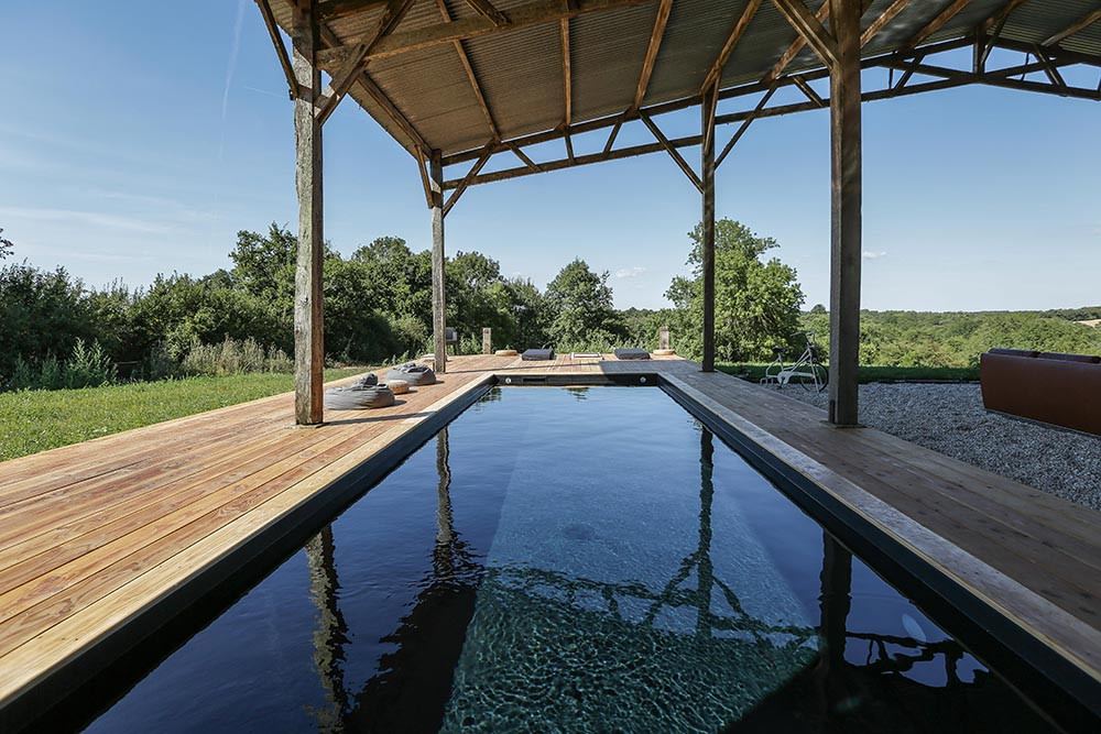 Oprieur piscine chauffée privée