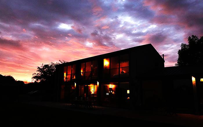 coucher de soleil sur le gite
