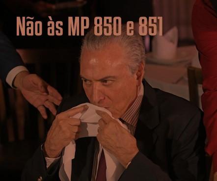 Votem NÃO na consulta sobre as MPs 850 e 851!