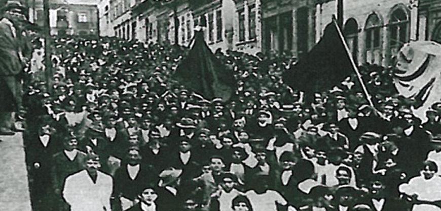 Greve de 1917 -  Protesto em São Paulo/SP