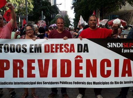 Sindisep/RJ na rua em defesa da previdência  social