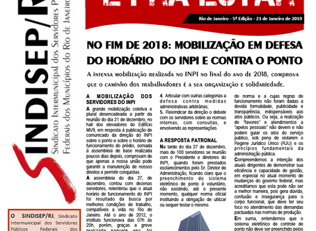 No final de 2018 teve barulho no INPI