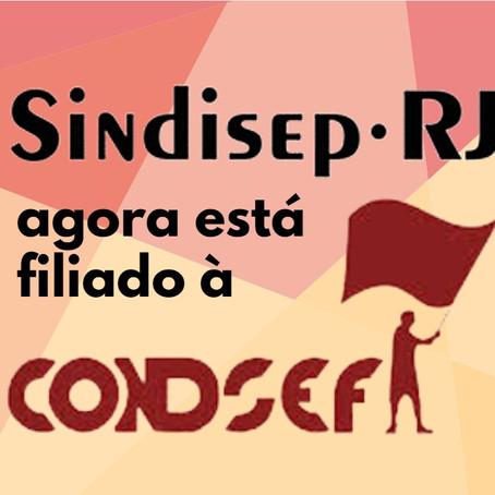 CONSELHO DELIBERATIVO DE ENTIDADES APROVA FILIAÇÃO DO SINDISEP-RJ À CONDSEF