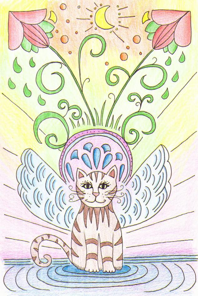 Moon Flower Cat