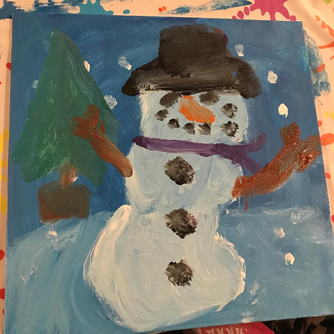 Snowman Paint Party