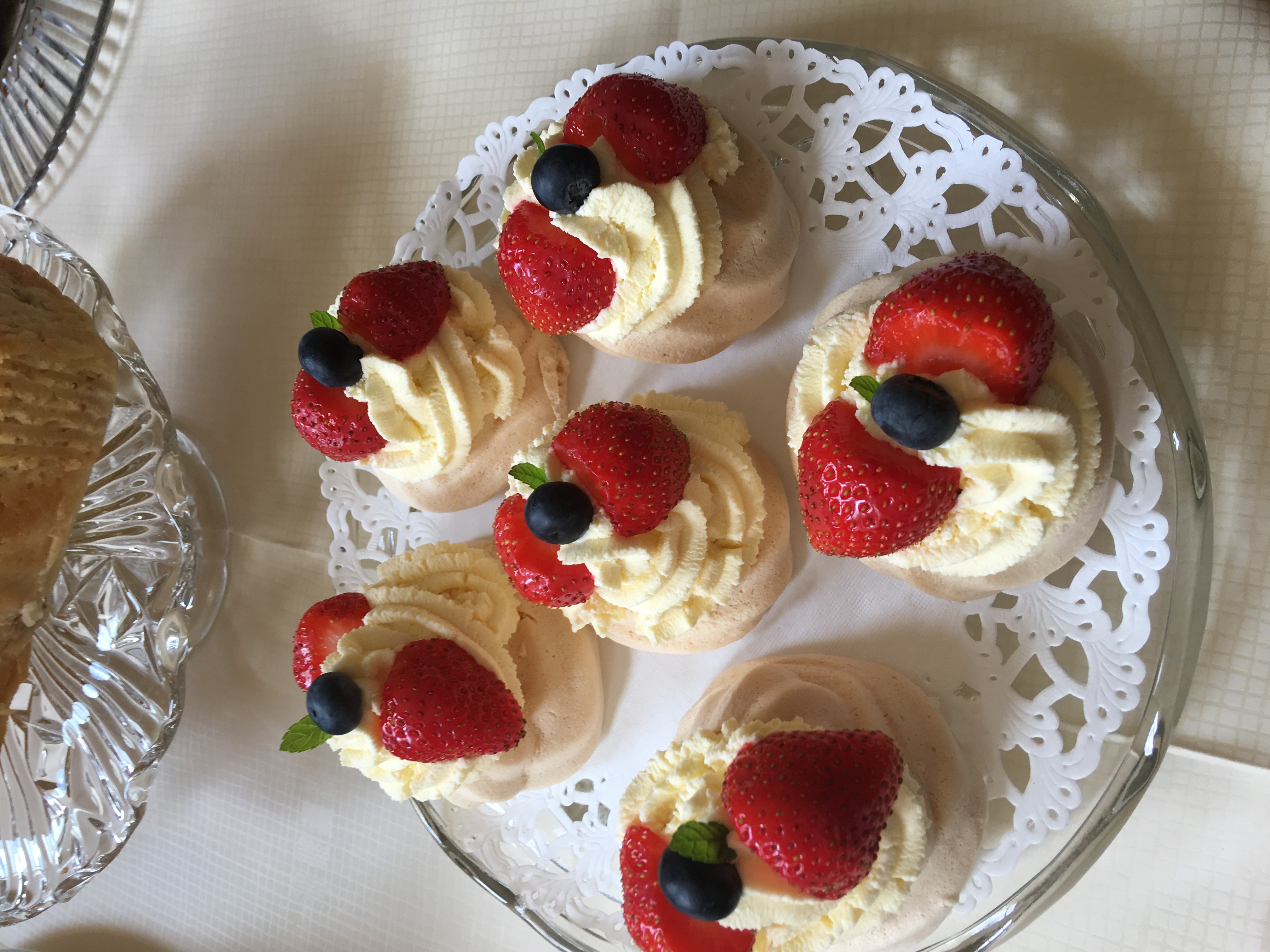 meringues and fresh fruit