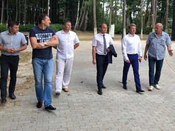 Олег Александрович Рожнов посетил Центральный парк