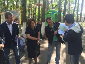 Министр культуры посетил наш парк.