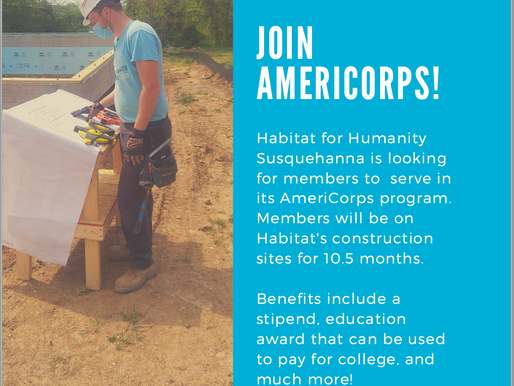 Habitat for Humanity Susquehanna & AmeriCorps