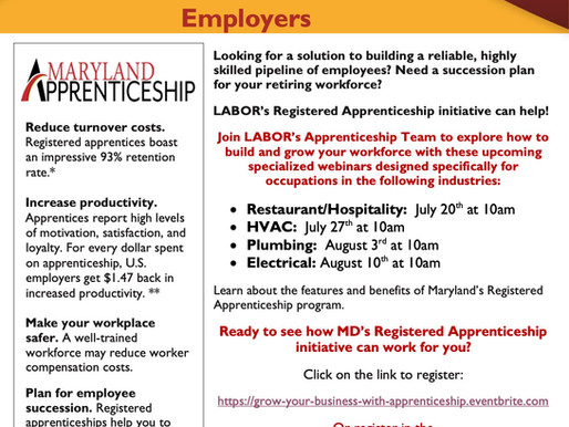 MD Apprenticeship Virtual Information Session for Employers