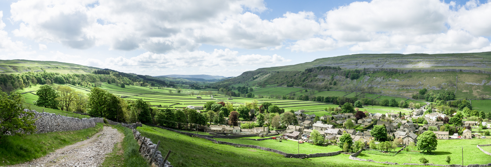 Kettlewell and Wharfedale from Cam Head