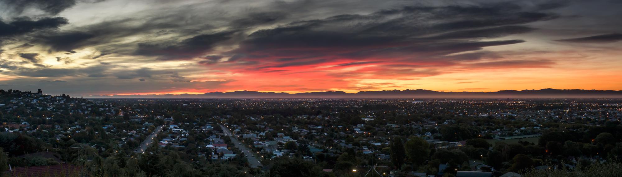 Sundown over Christchurch