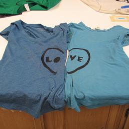 T-Shirt Stencils (Studio Art students)