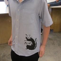 T-Shirt Stencils (Studio Art student)