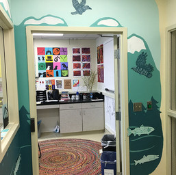 """""""Beneath Our Feet"""" Collaborative Mural (by Middle and High School Studio Art students)"""
