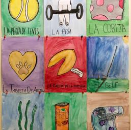Lotería Tabla* (Studio Art students)