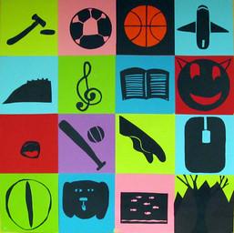 Collaborative Symbol Mural (Studio Art students)