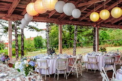Wedding Tables Decorated In Vintage Style