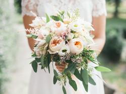 wedding bouquet in bride's hands, david
