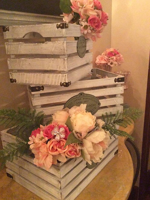Wooden French Crates