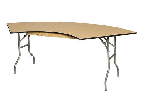 Serpentine Wood Tables