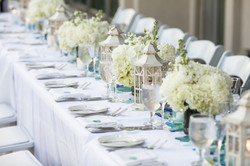 table set up for outdoor wedding recepti