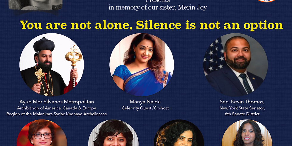 You are Not Alone, Silence is not an Option