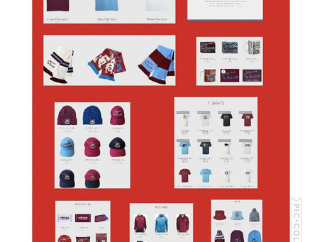 All our merch on site