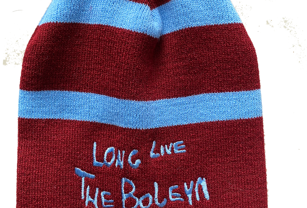 Claret Striped Beanie Hat
