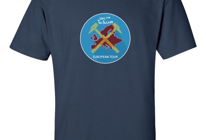 Euro Tour Map T-Shirt