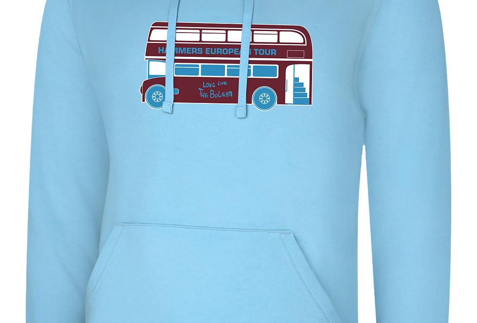 Euro Tour Bus Pull Over Hoodie