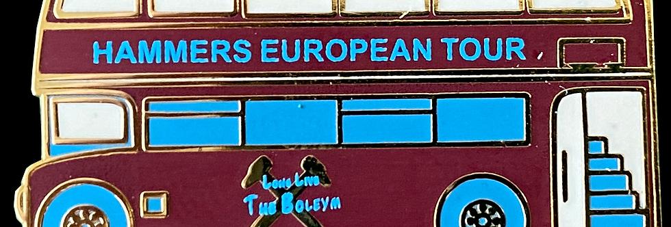 Hammers Bus European Tour Pin Badge