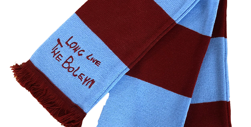 Claret & Blue Bar Scarf
