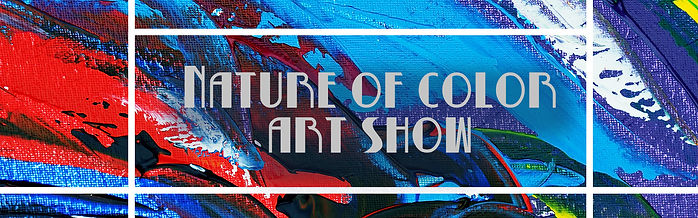 Nature of Color show blue and red paint