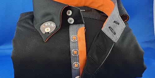 Chemise Homme satin de coton gorge 7 boutons (Réf: H1)