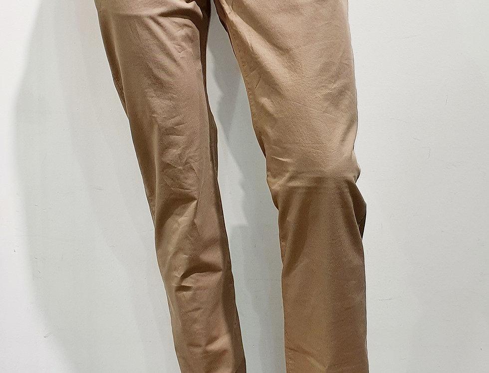 """Pantalon homme """"CHINO"""" coton/élasthanne uni beige (Réf P11)"""