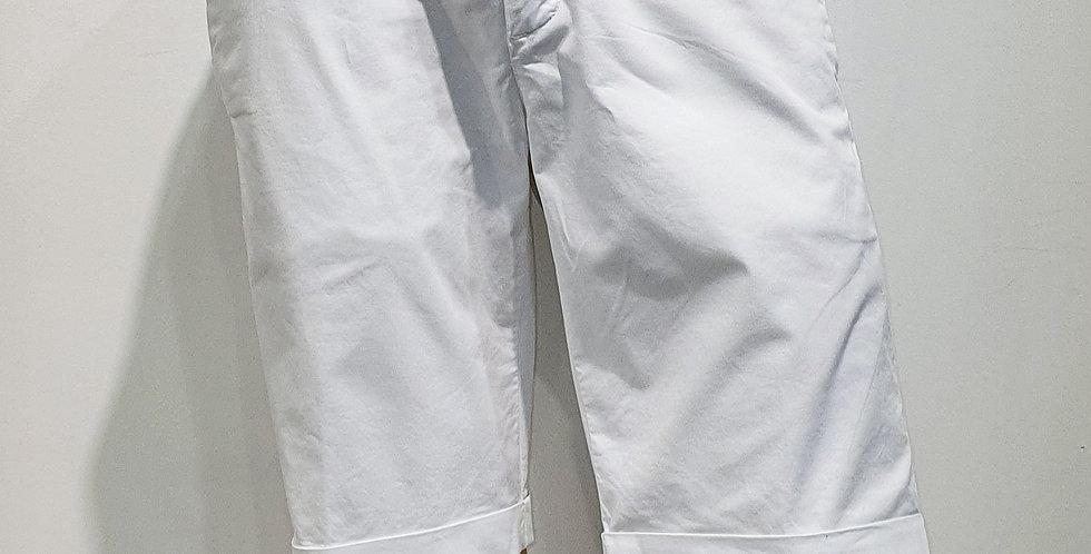 "Bermuda  ""CHINO"" coton élasthanne uni Blanc  (Réf : B6)"