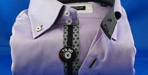 Chemise Homme coton satiné boutonnage classique (Réf: L2)