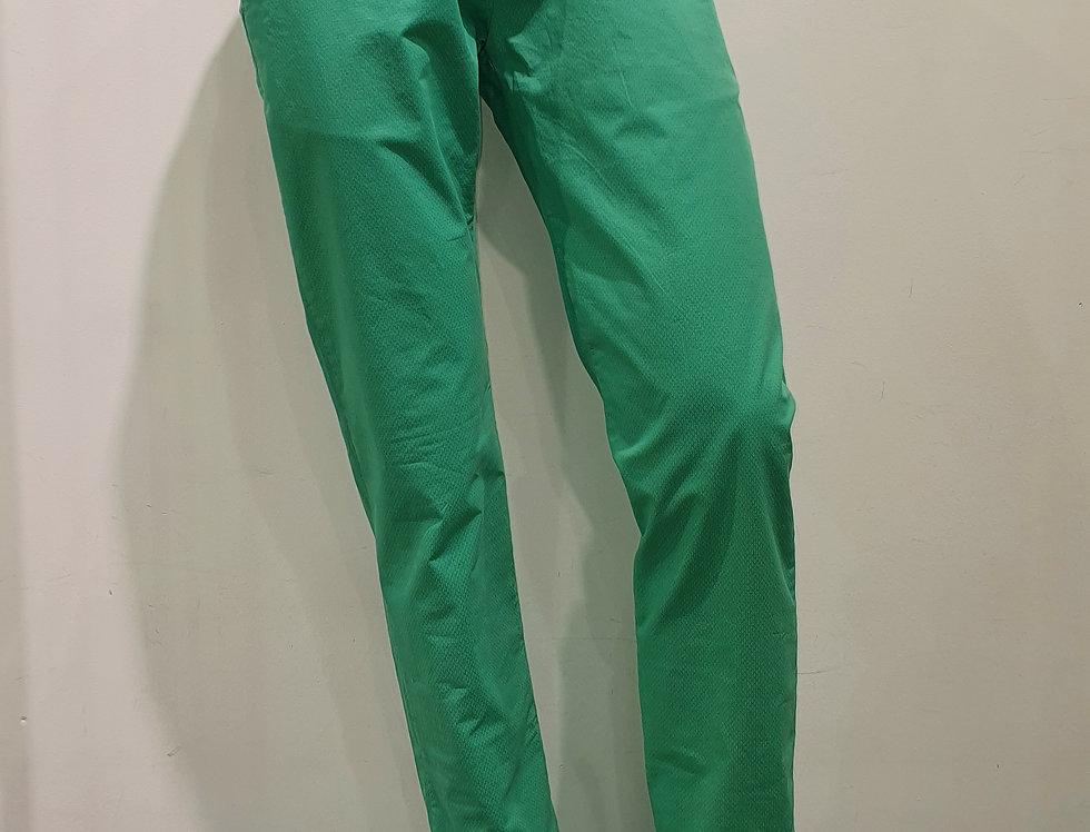 """Pantalon homme  """"CHINO"""" coton/élasthanne imprimé ton sur ton vert (P10)"""