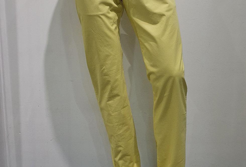 """Pantalon homme  """"CHINO"""" coton/élasthanne uni jaune (Réf P2))"""