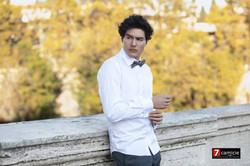 Mannequin chemise blanche noeud pap