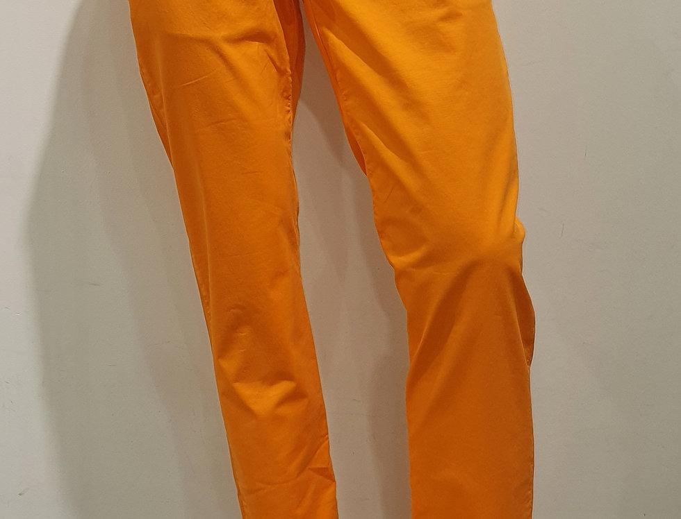 """Pantalon homme  """"CHINO"""" coton/élasthanne uni orange (Réf P5)"""