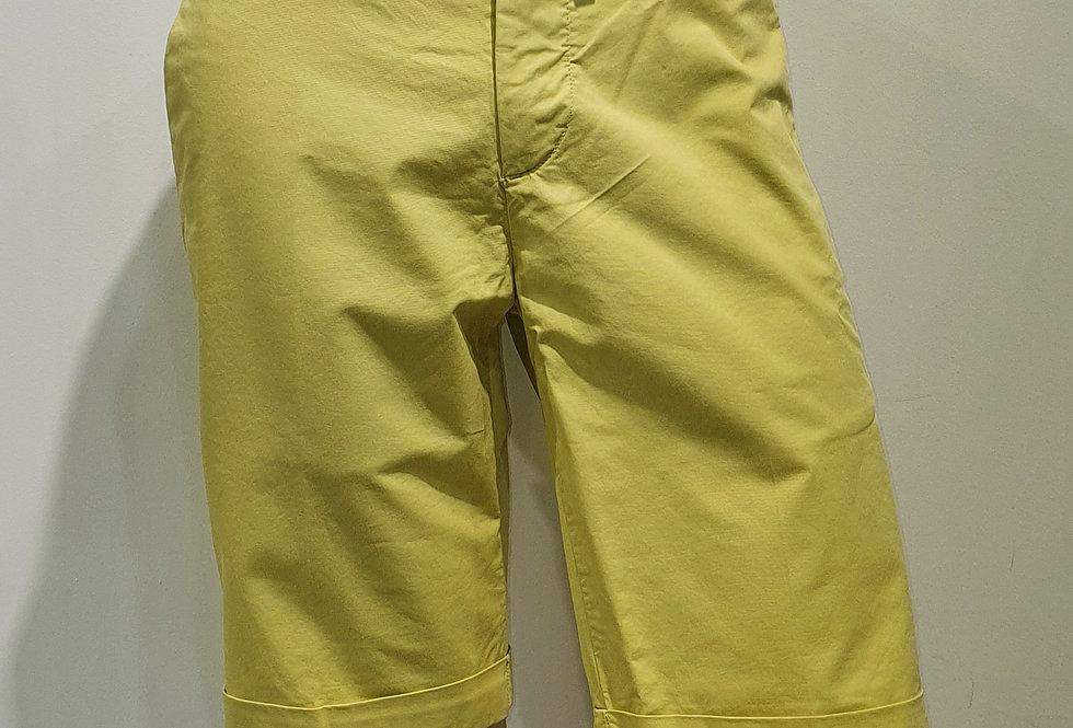 "Bermuda  ""CHINO"" coton élasthanne uni jaune  (Réf : B9)"