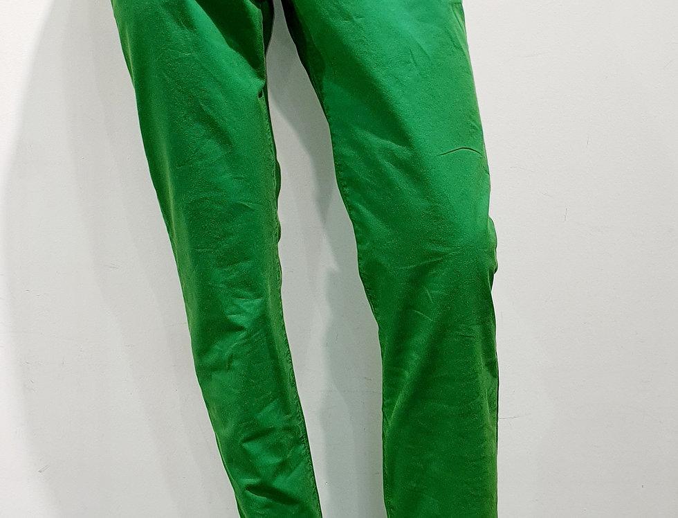 """Pantalon homme  """"CHINO"""" coton/élasthanne uni vert (Réf P4)"""