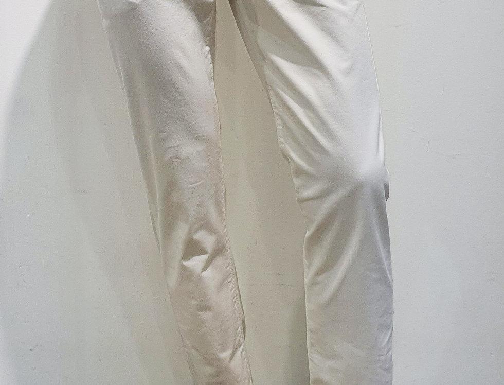 "Pantalon homme  ""CHINO"" coton/élasthanne uni blanc (Réf P1)"