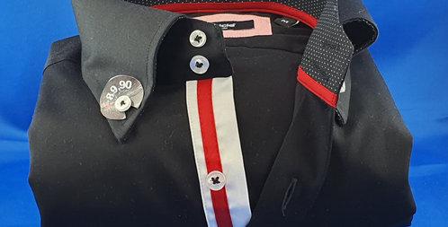 Chemise Homme satin de coton boutonnage classique (Réf: H4)