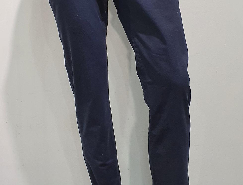 "Pantalon homme  ""CHINO"" coton/élasthanne uni marine (Réf P8)"
