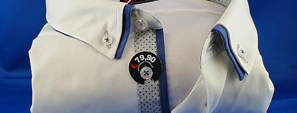 Chemise Homme Popeline strech petit double col boutonnage classique (Réf: 007)