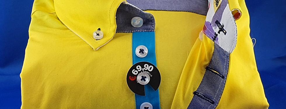 Chemise Homme popeline strech gorge 7 boutons (Réf: J1)