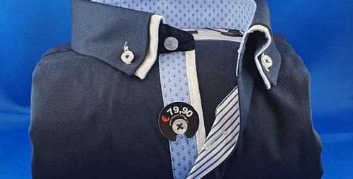 Chemise Homme Popeline stretch petit double col boutonnage classique (Réf: A1)